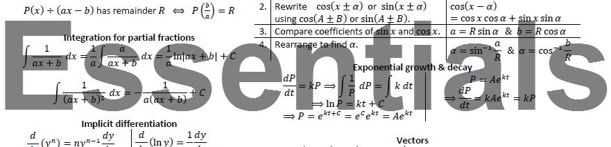 Essentials Revision Cards